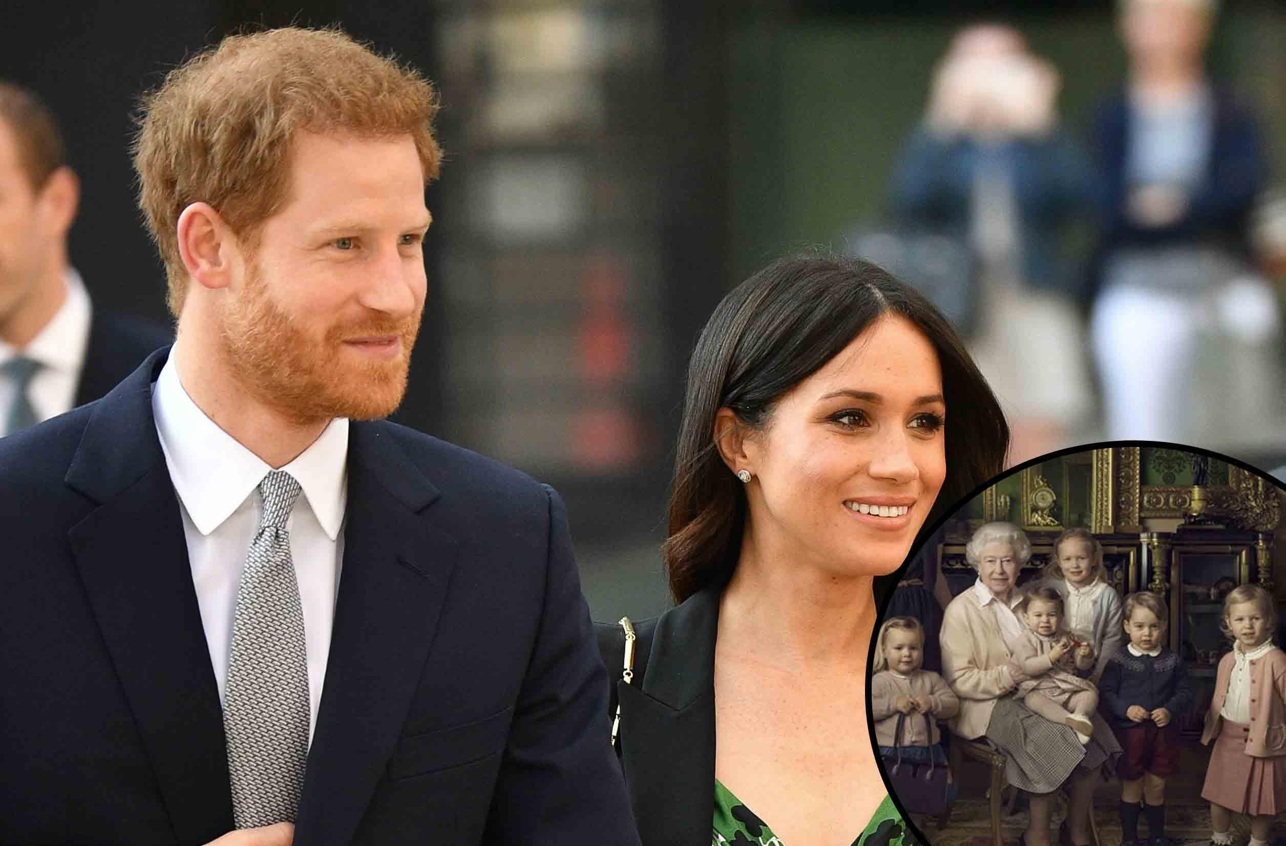 harry meghan queen great-grandchildren