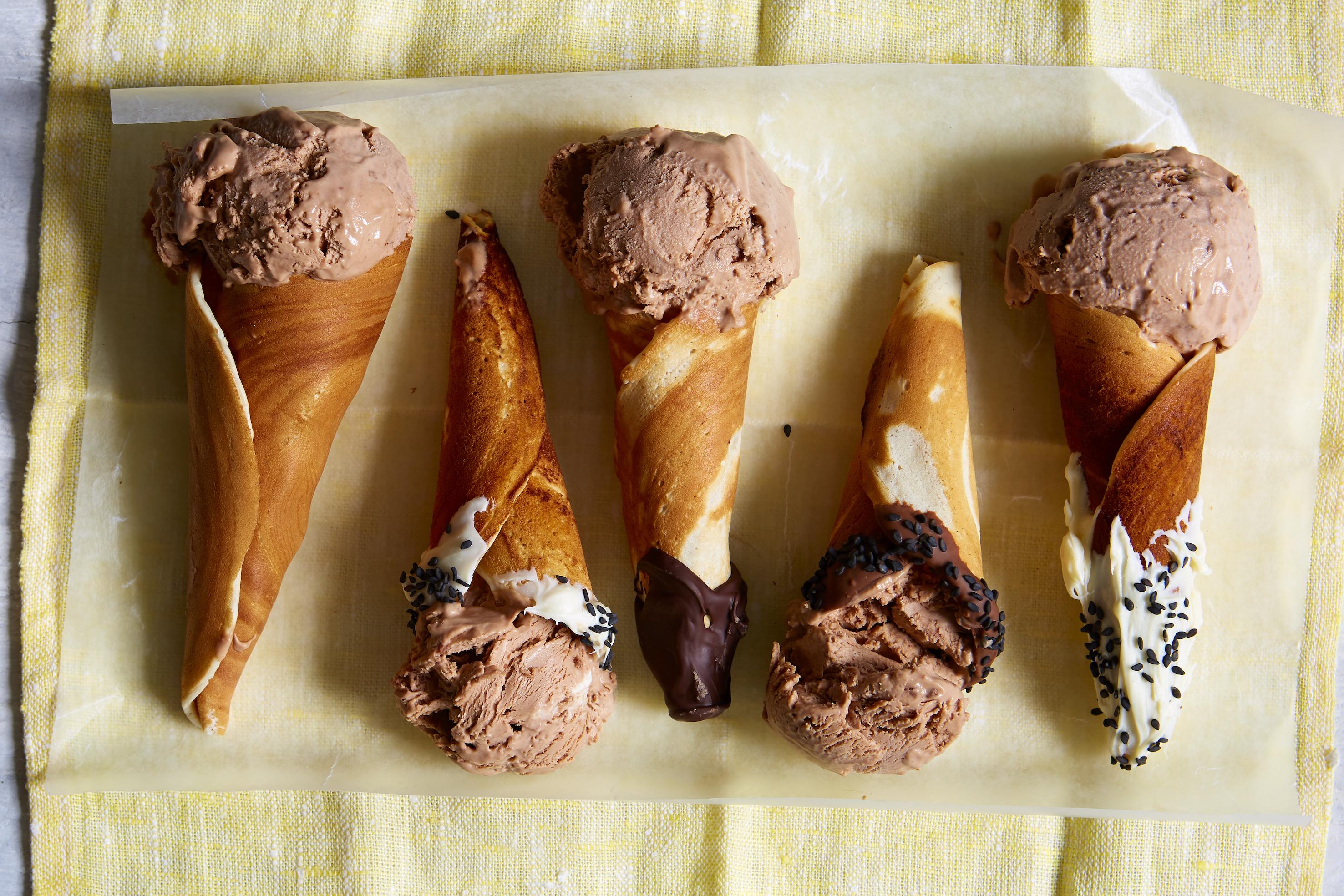 mini ice cream cones british recipes goodtoknow