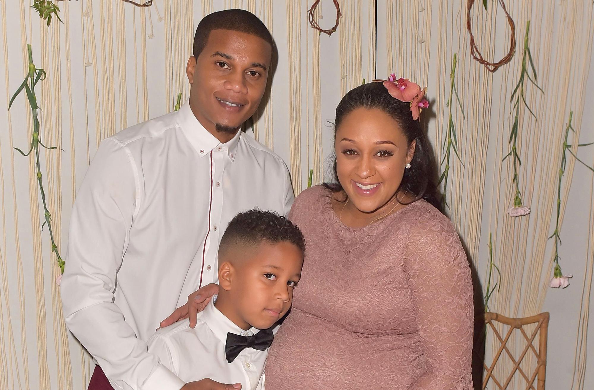 pregnant Tia Mowry husband son