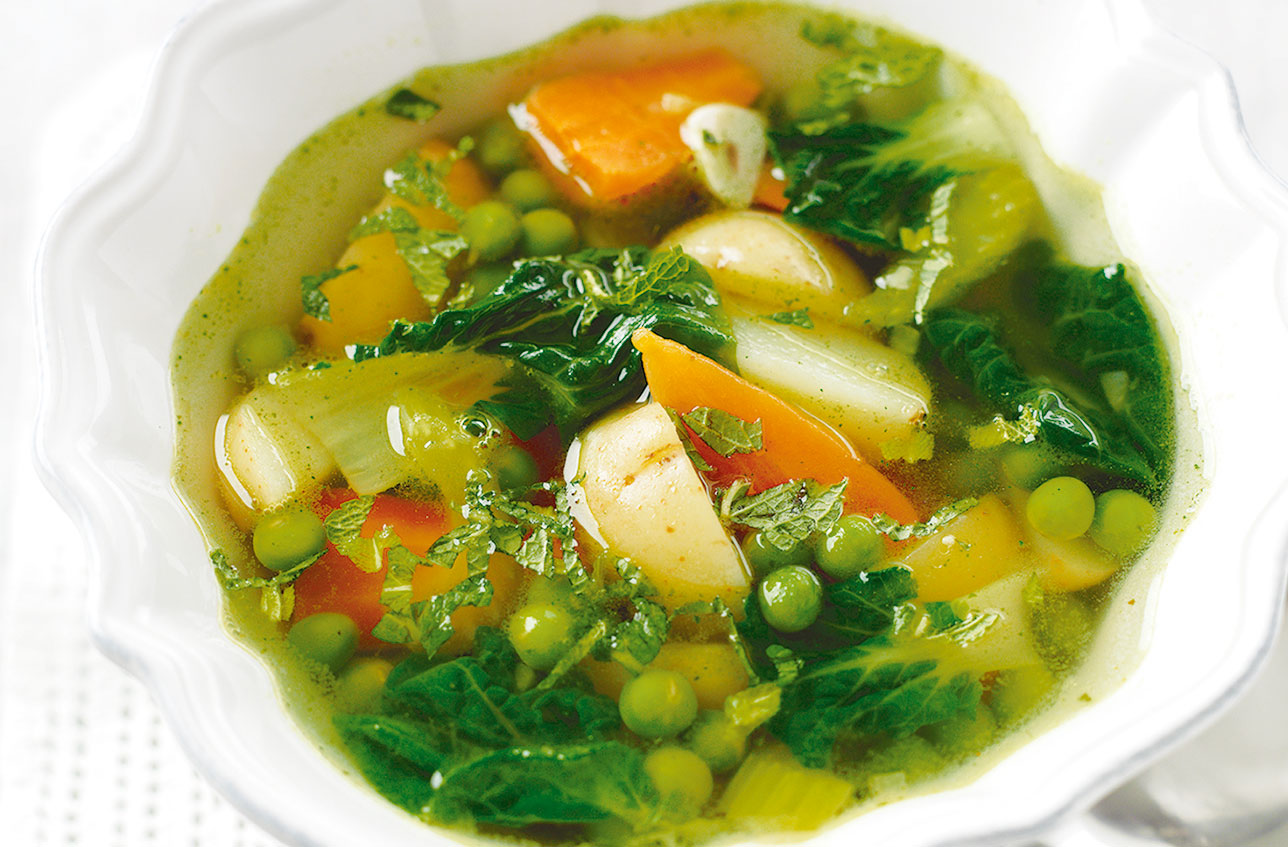 homemade spring vegetable soup british recipes goodtoknow
