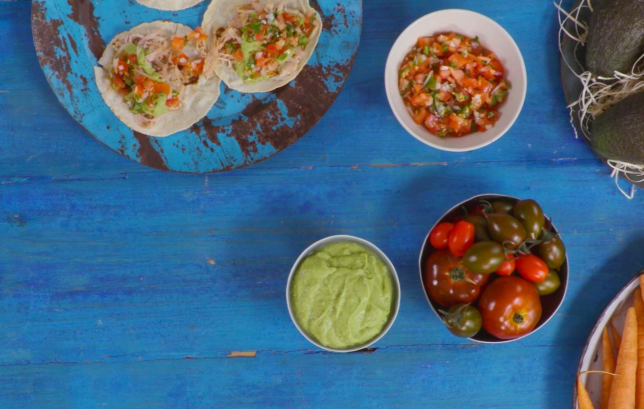 How to make pica de gallo and salsa verde
