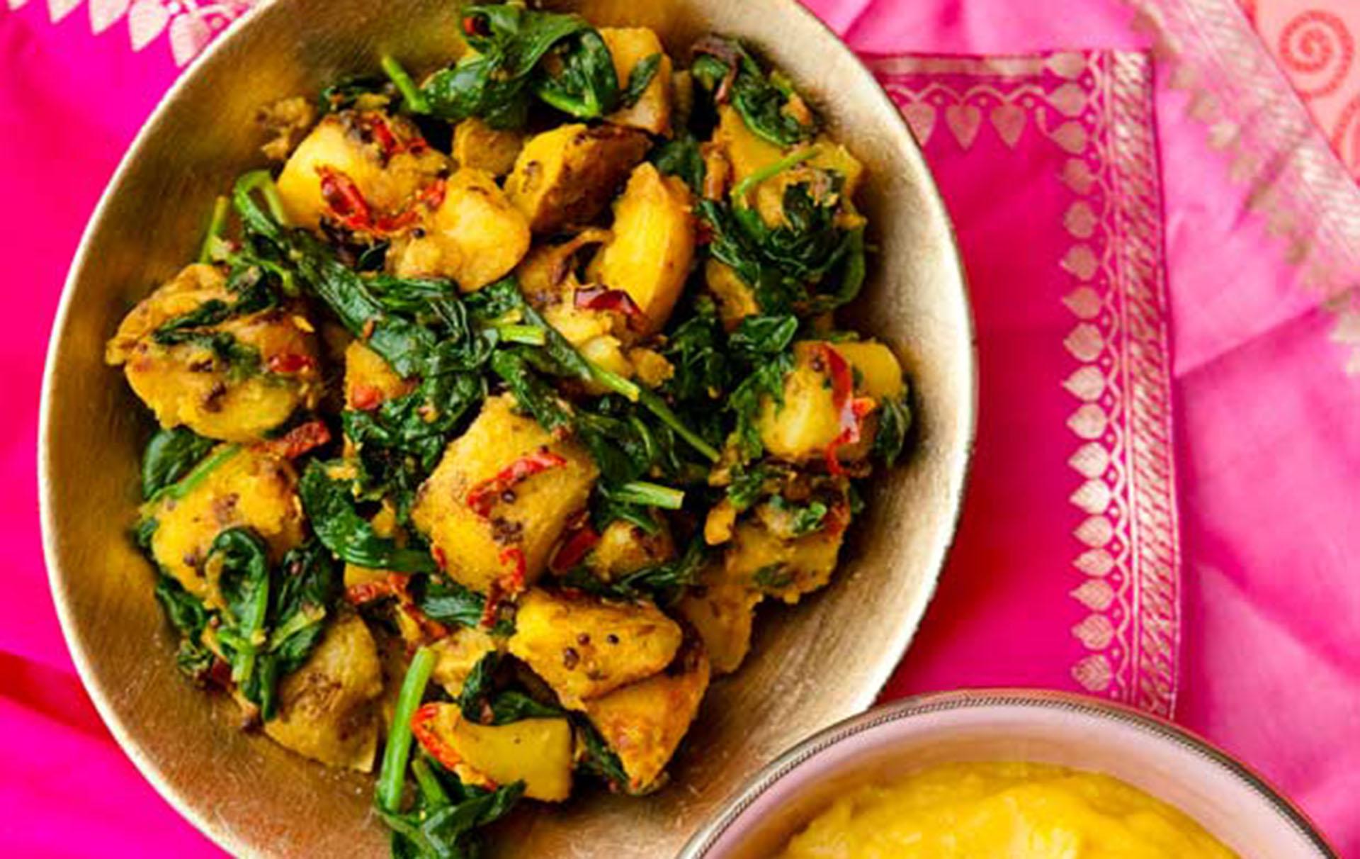 Saag Aloo Indian Recipes Goodtoknow