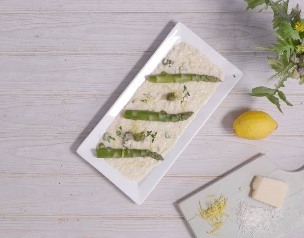 how to make asparagus risotto