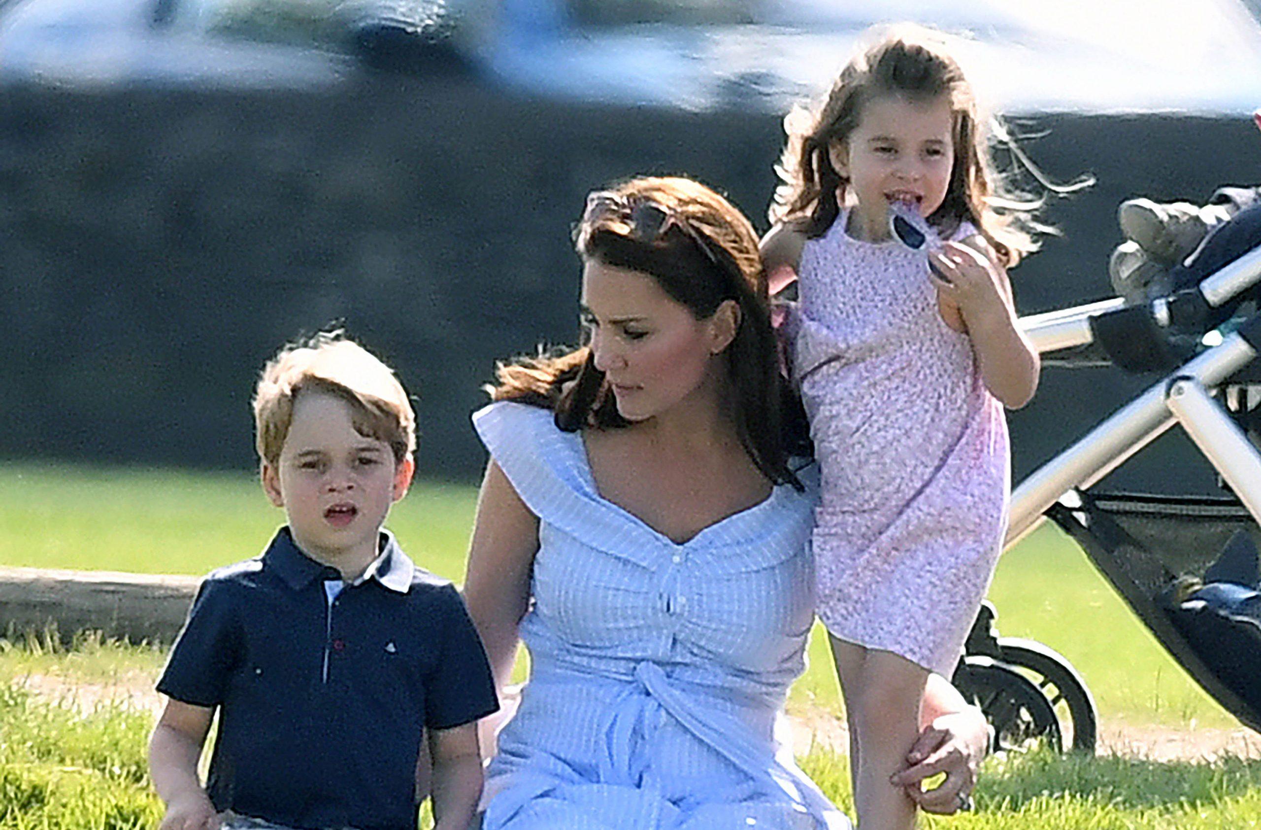 kate middleton prince george princess charlotte polo