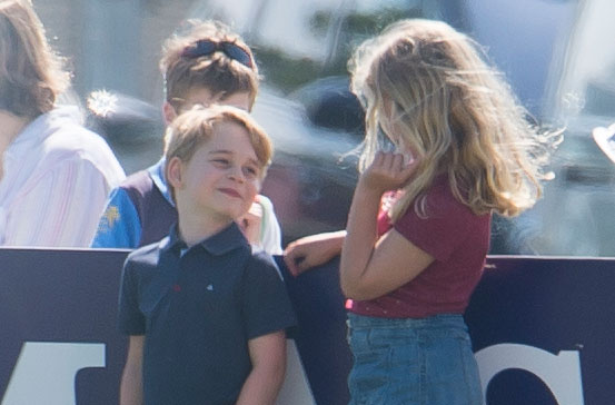 Prince George Gets Pushed Down Hill By Cousin Savannah