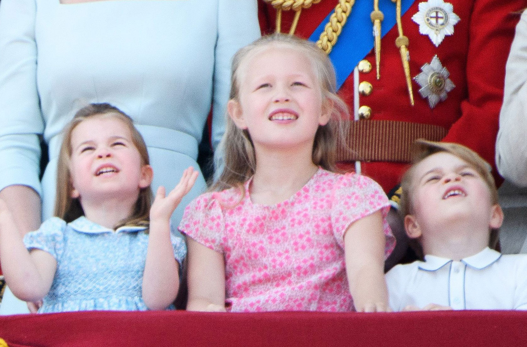 trooping the colour prince george princess charlotte savannah phillips