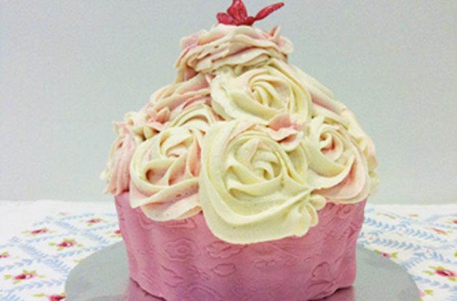 Pleasing Giant Cupcake Baking Recipes Goodtoknow Funny Birthday Cards Online Sheoxdamsfinfo