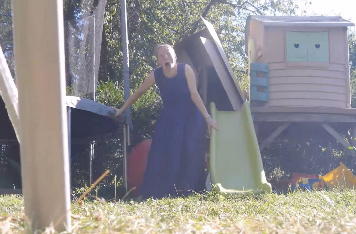 Mum Films Herself Giving Birth Next To Playground In Her