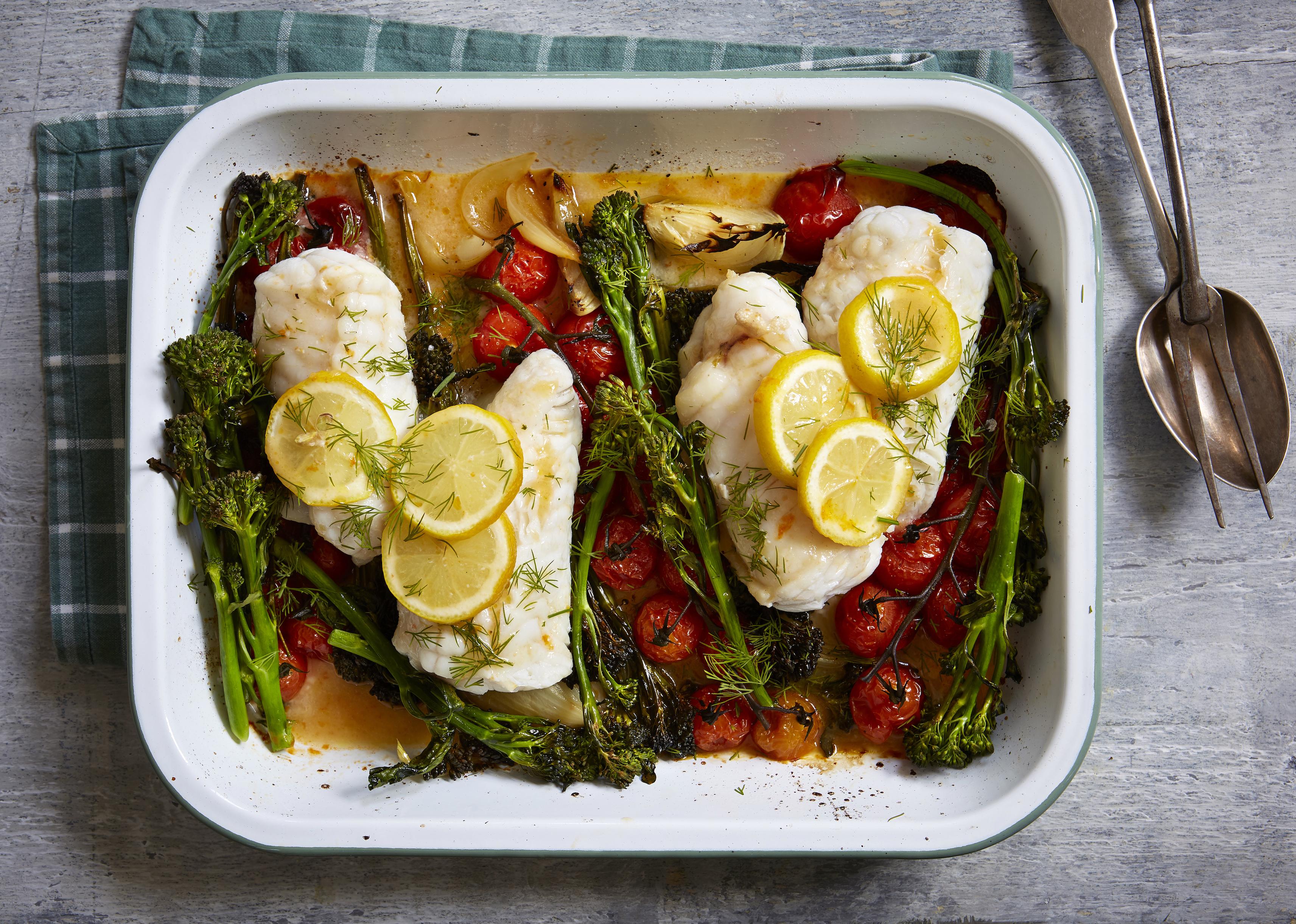 Fish And Broccoli Tray Bake Dinner Recipes Goodtoknow