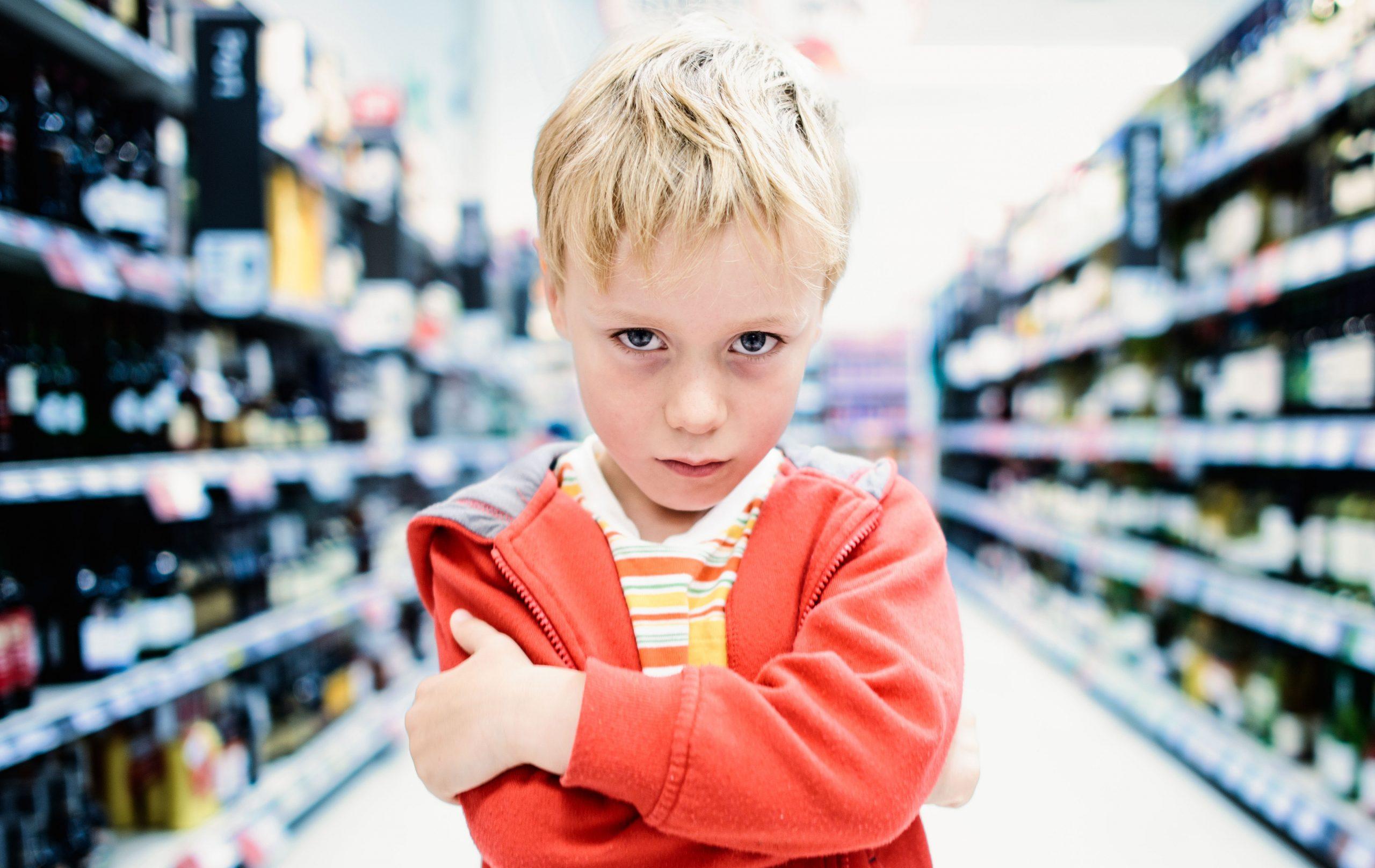 sad supermarket boy