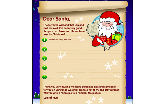 Free santa letters send a letter to santa with our template download your free santa letter here spiritdancerdesigns Gallery