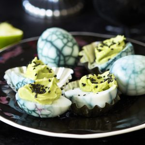 Try these Halloween eggs for a great canapé to impress and spook your guests