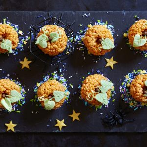 These easy rice krispie pumpkins are a great Halloween treat to make with the kids