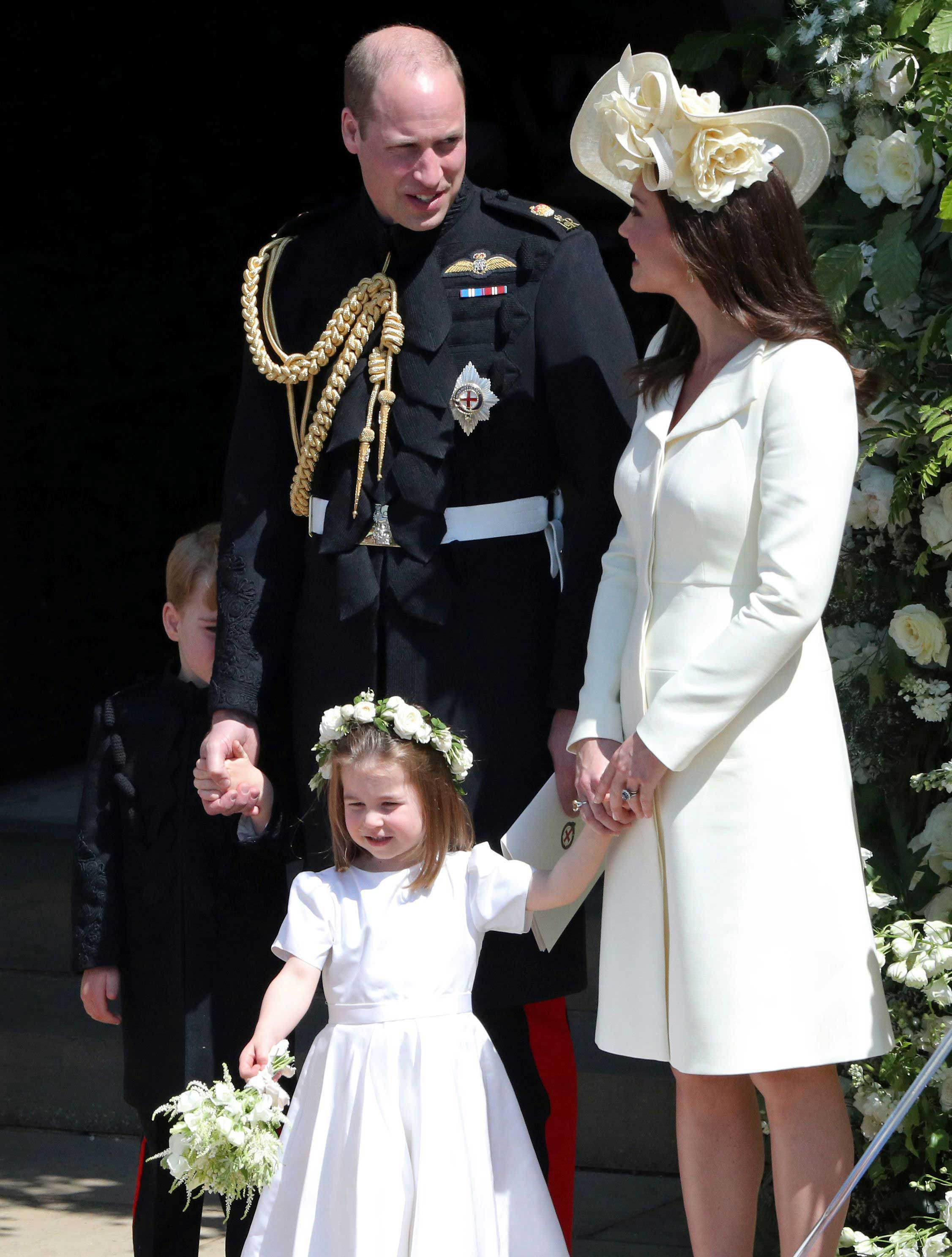 Prince William, Catherine Duchess of Cambridge, Prince George and Princess Charlotte