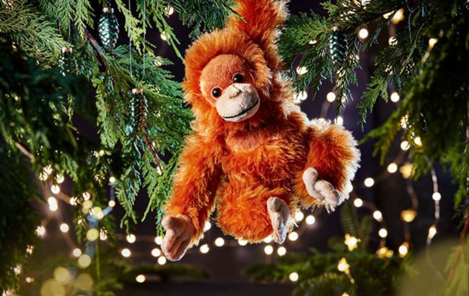 iceland orangutan toy, rang-tan cuddly toy for christmas