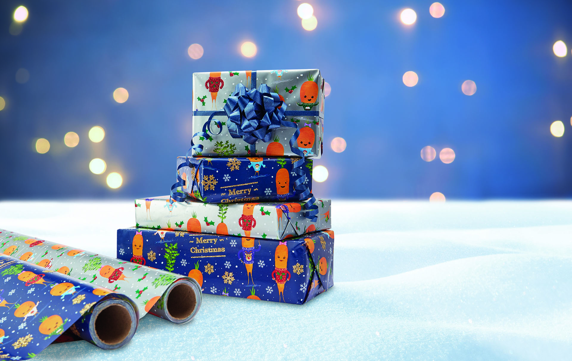 aldi kevin the carrot christmas wrapping paper
