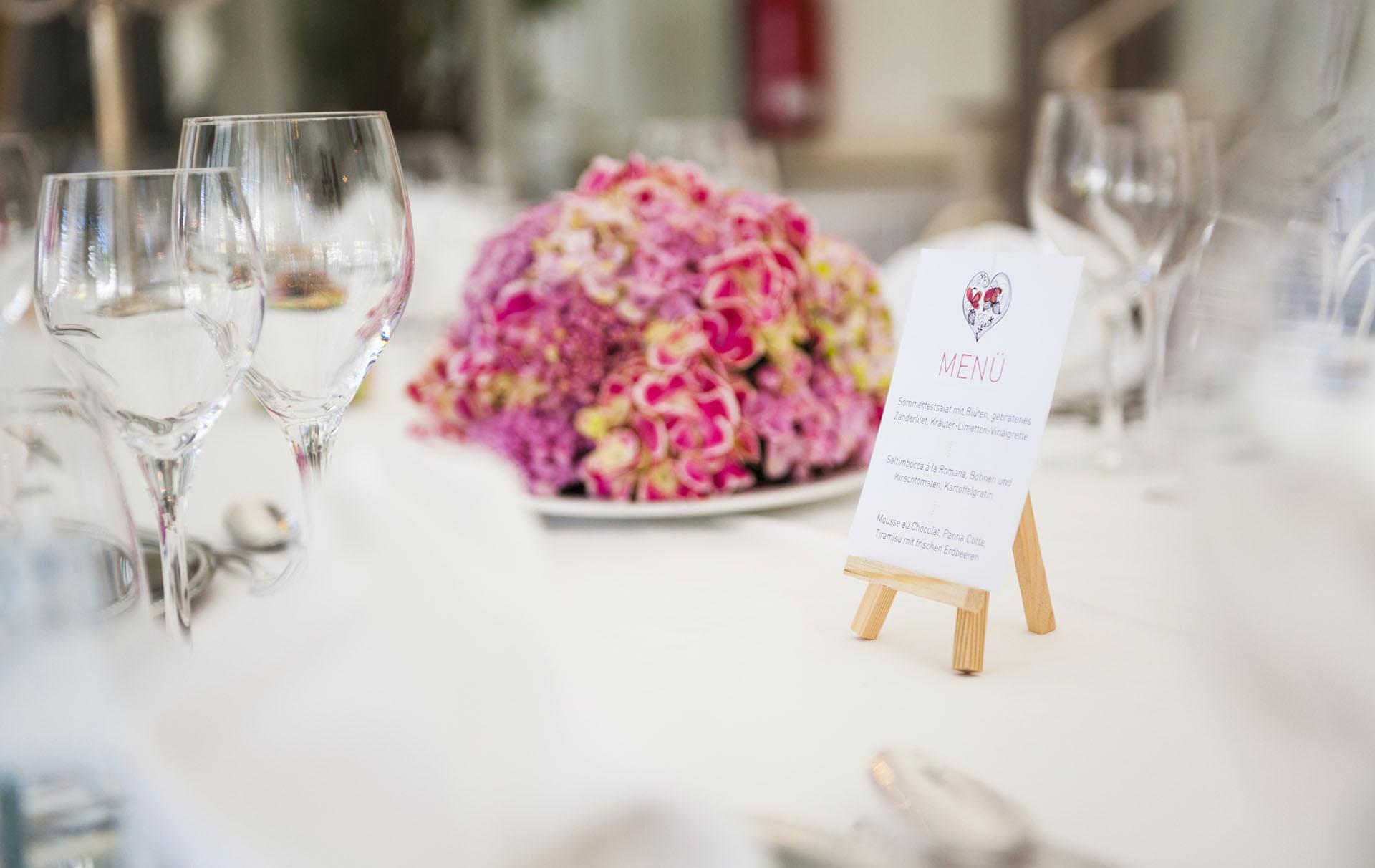 wedding day menu blunder