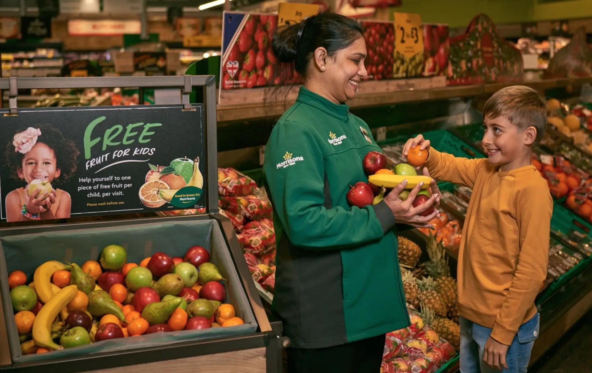 Morrisons free fruit scheme