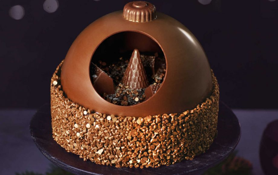 aldi chocolate bauble cake
