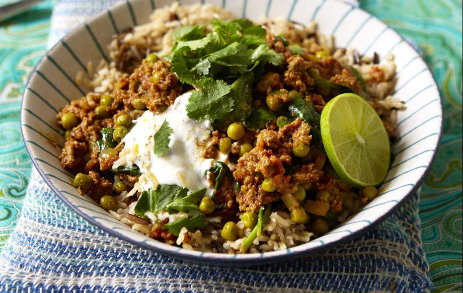 Lighter lamb keema curry Recipe