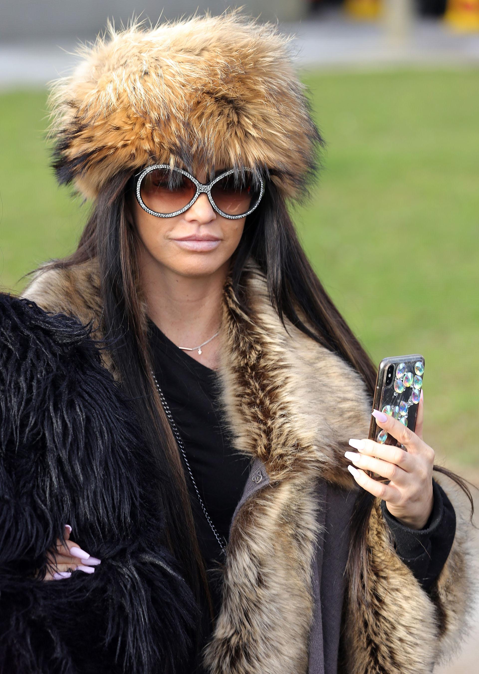 Katie price slammed for wearing real fur