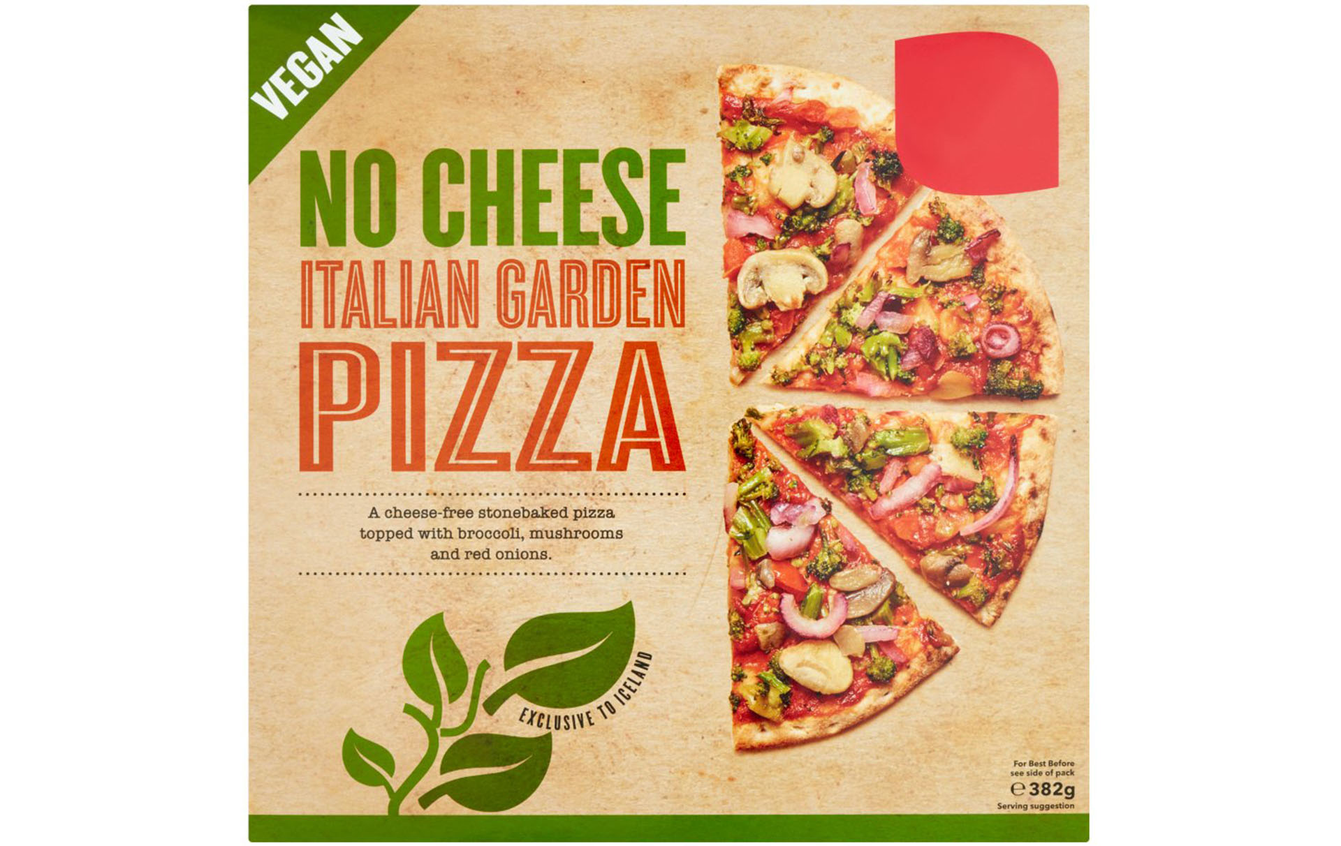 Iceland vegan pizzas