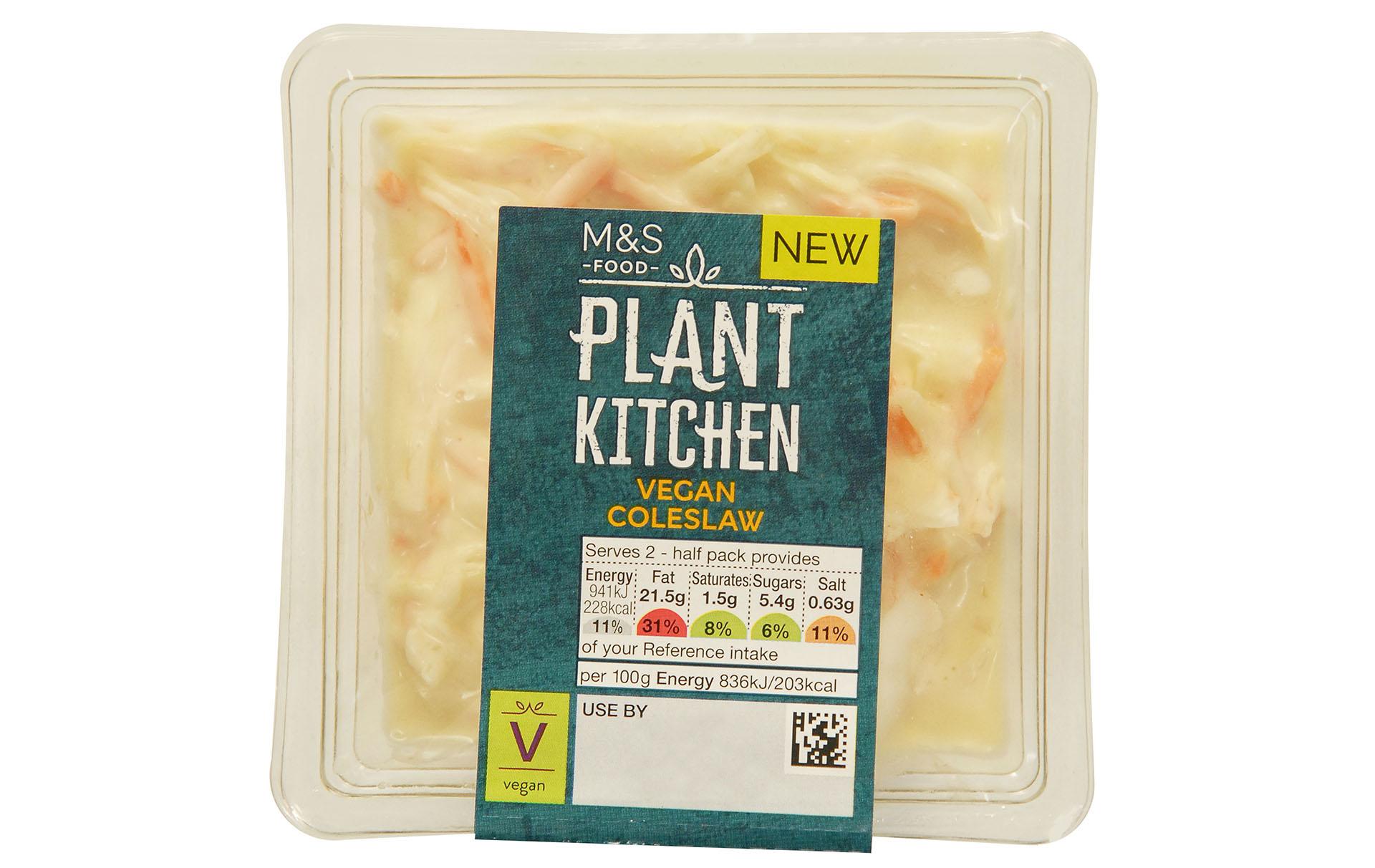 marks and spencer vegan coleslaw