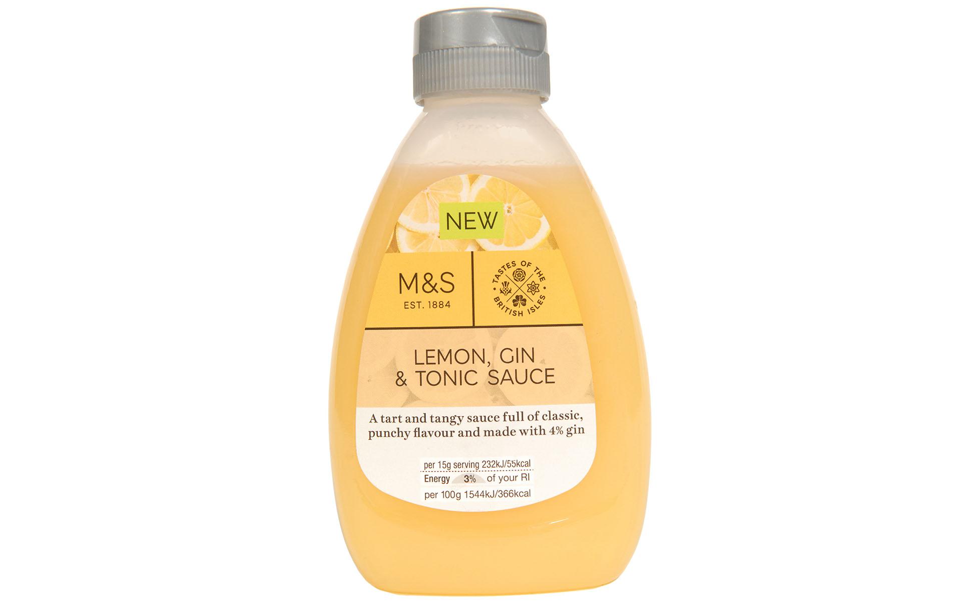 marks spencer lemon gin tonic sauce