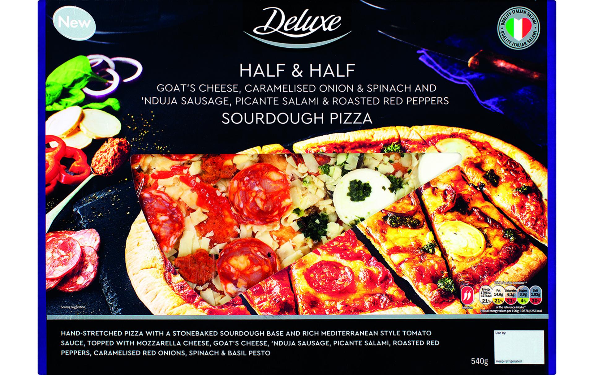 lidl valentines half half pizza