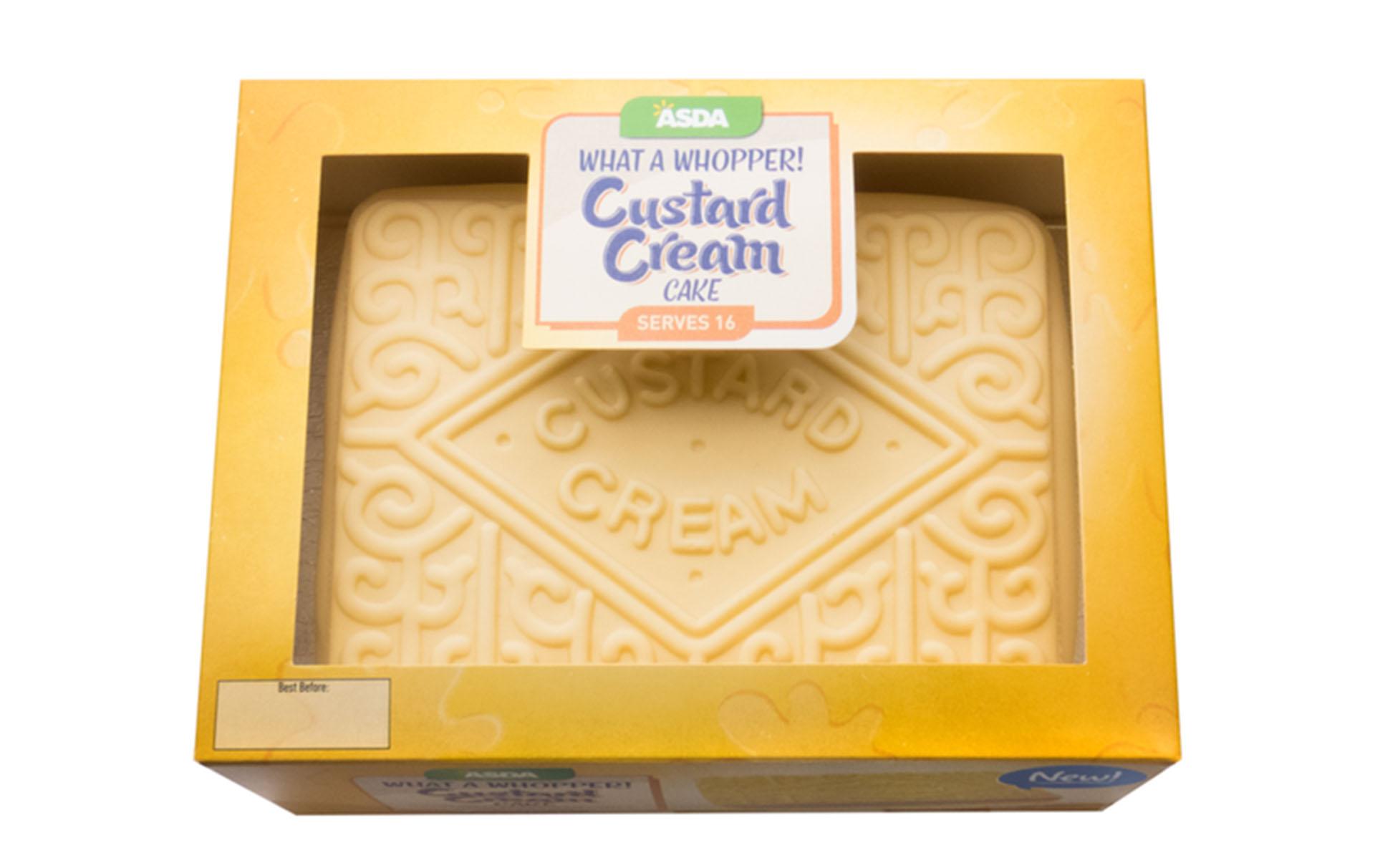 asda giant custard cream cake