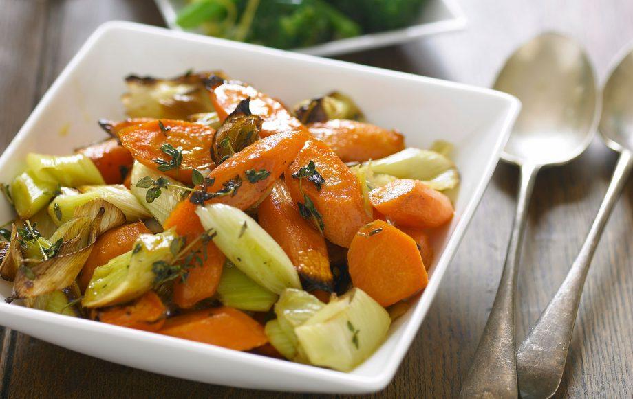 Roasted leeks and carrots recipe