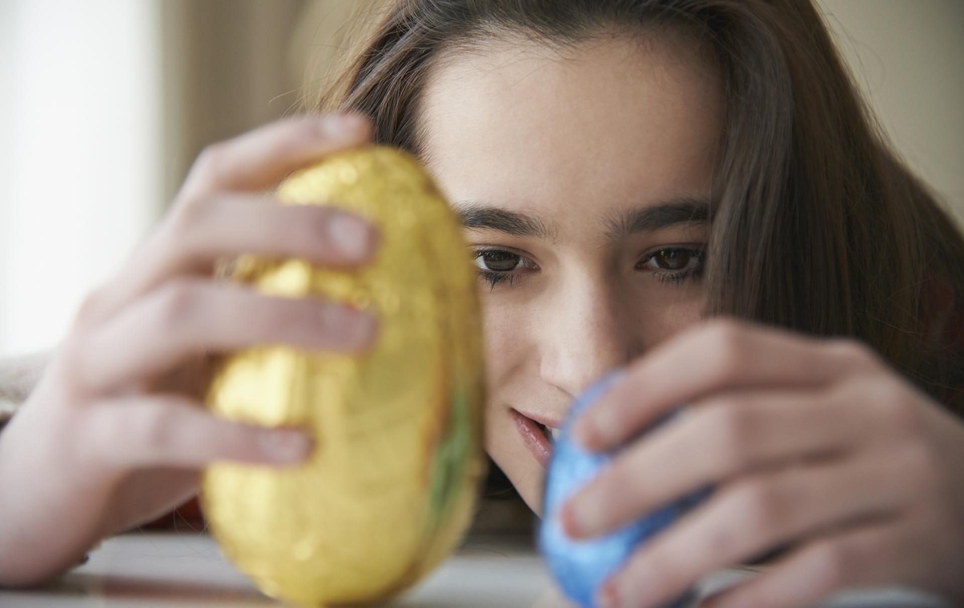 tesco branded Easter egg sale