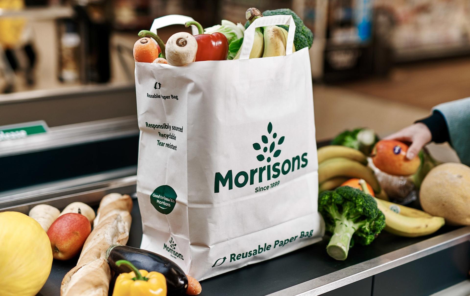Morrisons reusable paper bag