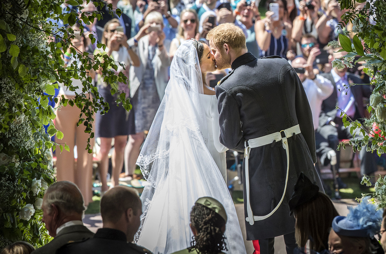 prince harry meghan markle share unseen wedding photos first anniversary