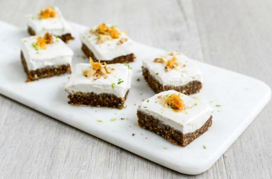 Raw Carrot Cake With Vegan Cashew Nut Frosting Dessert Recipes