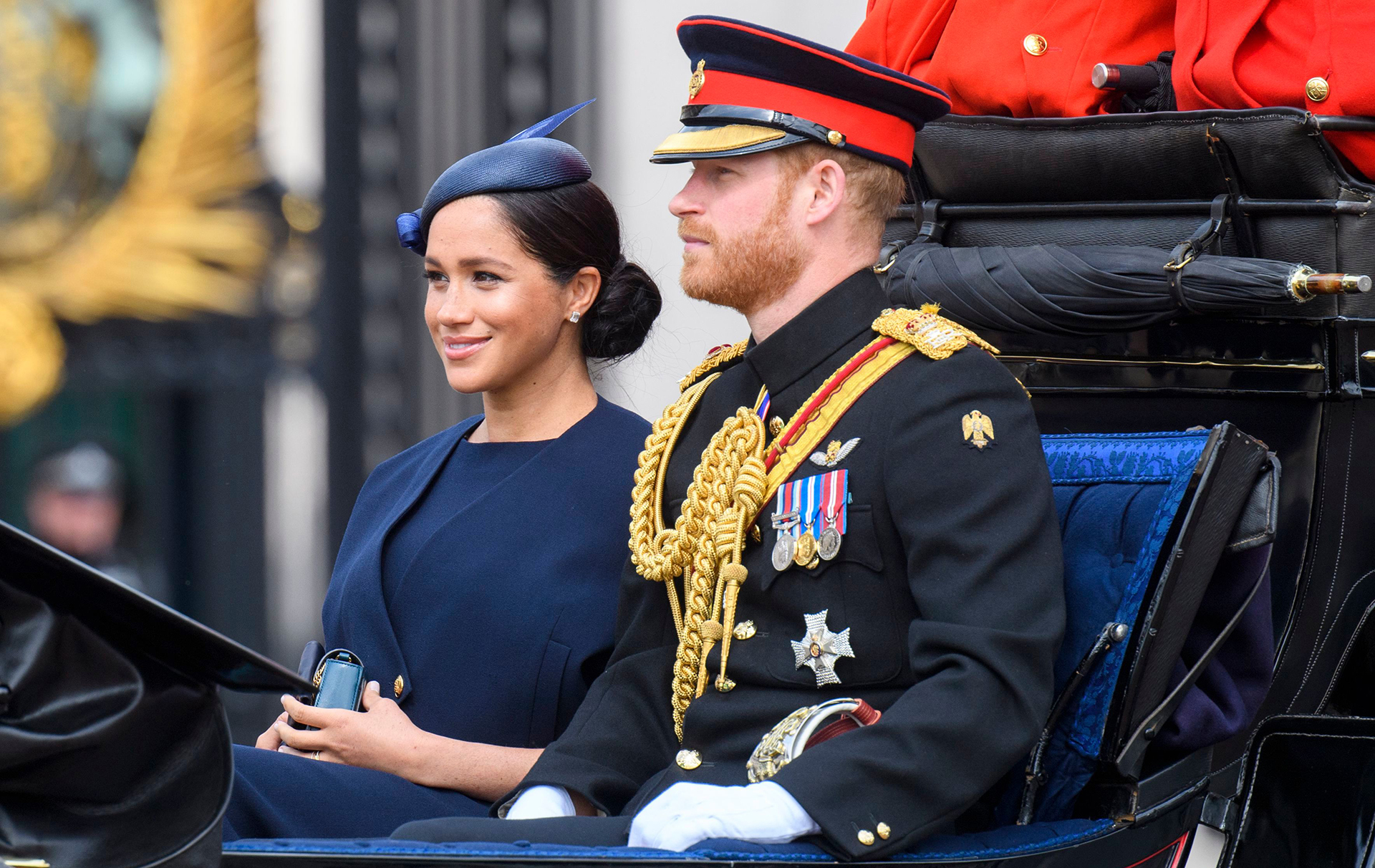 Meghan and Harry Trooping the Colour