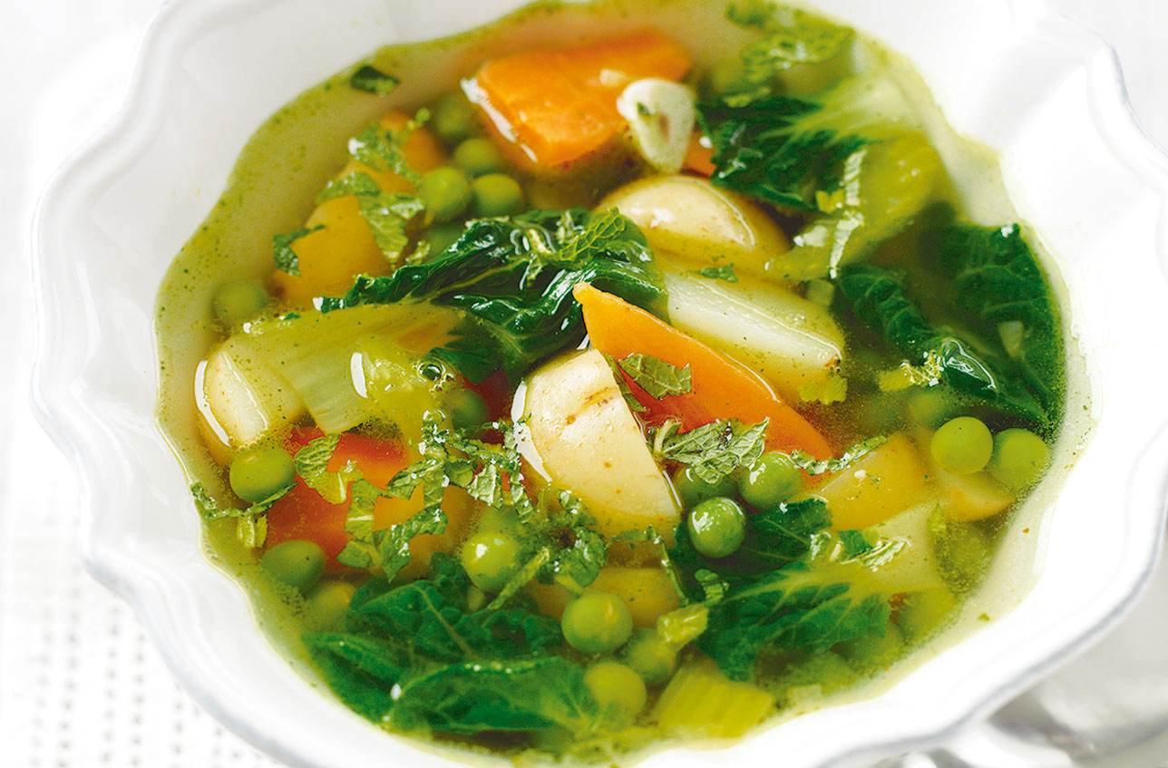 Homemade Spring Vegetable Soup Dinner Recipes Goodtoknow