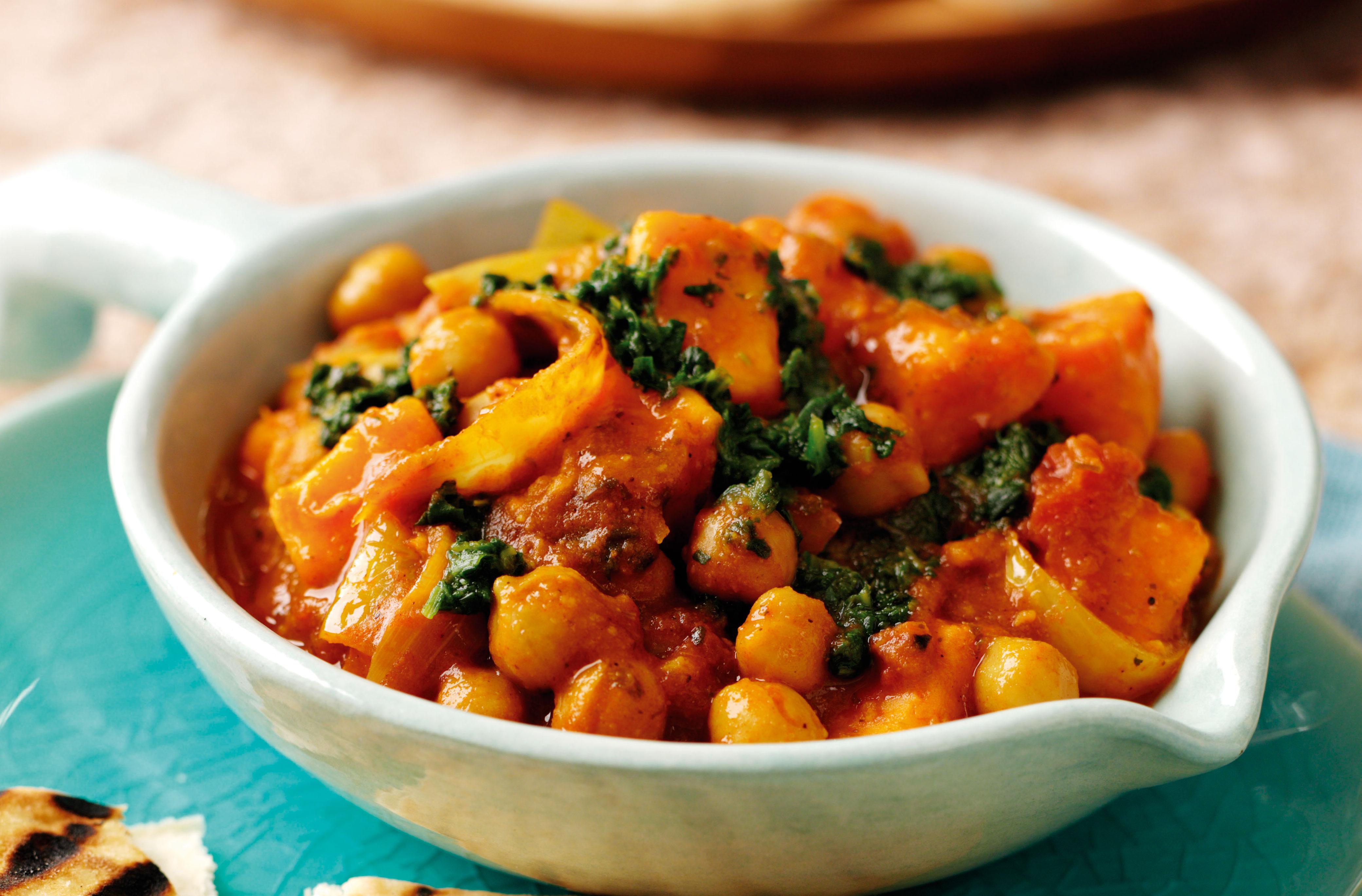 Sweet Potato And Chickpea Balti