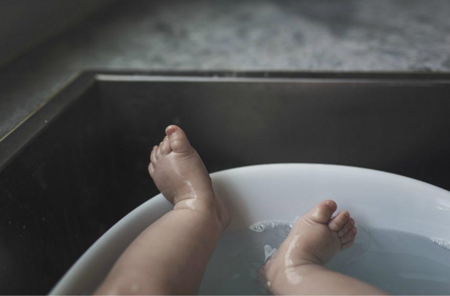 Mum shares chilling warning baby drinking water