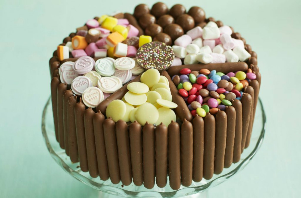 Phenomenal Pick Mix Chocolate And Sweet Cake Dessert Recipes Goodtoknow Funny Birthday Cards Online Eattedamsfinfo