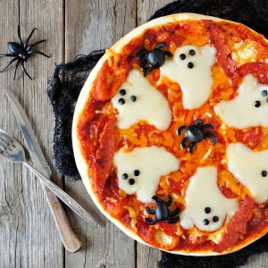 This spooky Halloween pizza recipe is the perfect ghoulish treat for October