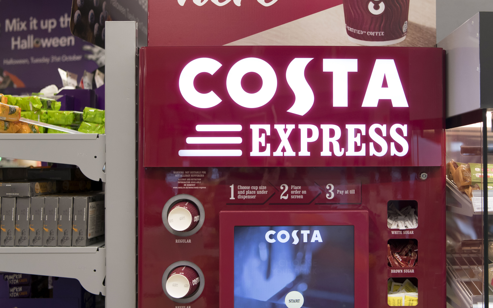 Costa Announce Their Costa Express Machines Will Be Giving