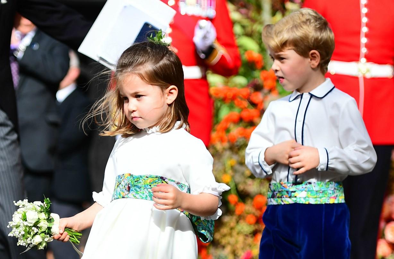Princess Charlotte Prince George bridesmaid pageboy