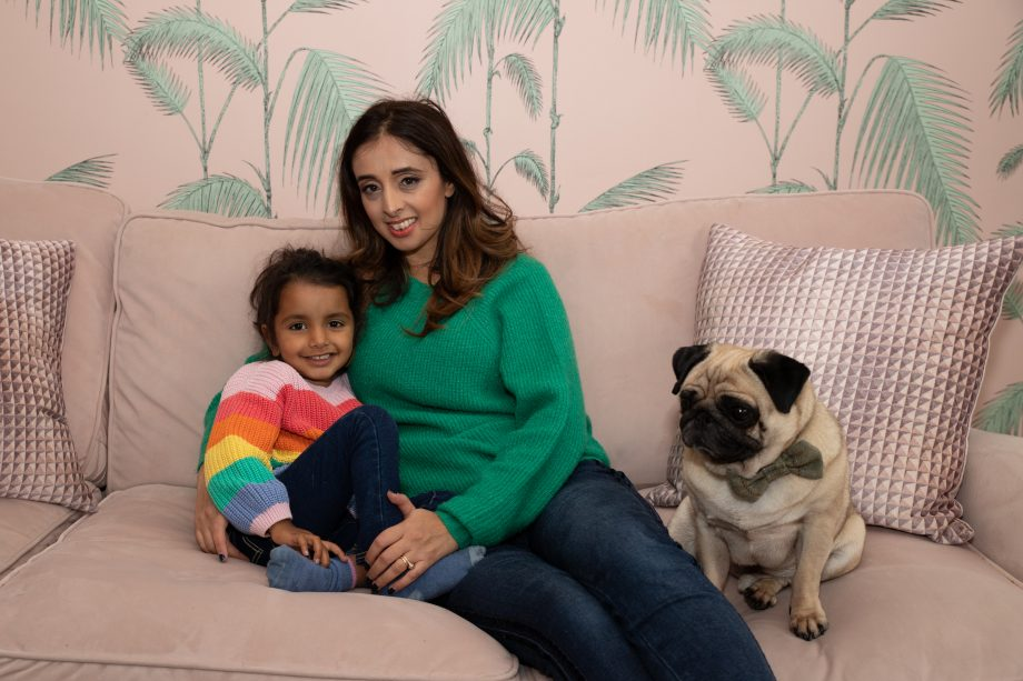 Manpreet Azad and daughter Eva, wh has a dairy allergy