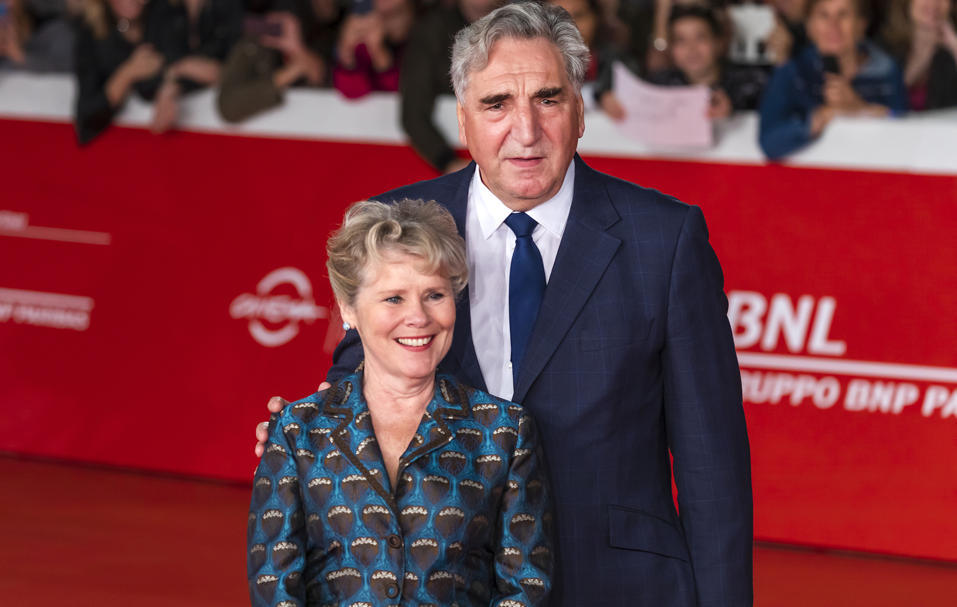 Downtown Abbey stars Imelda Staunton and Jim Carter