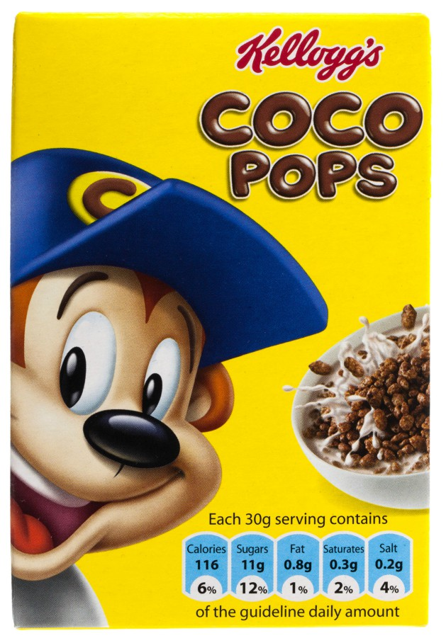coco pops nutritional information uk