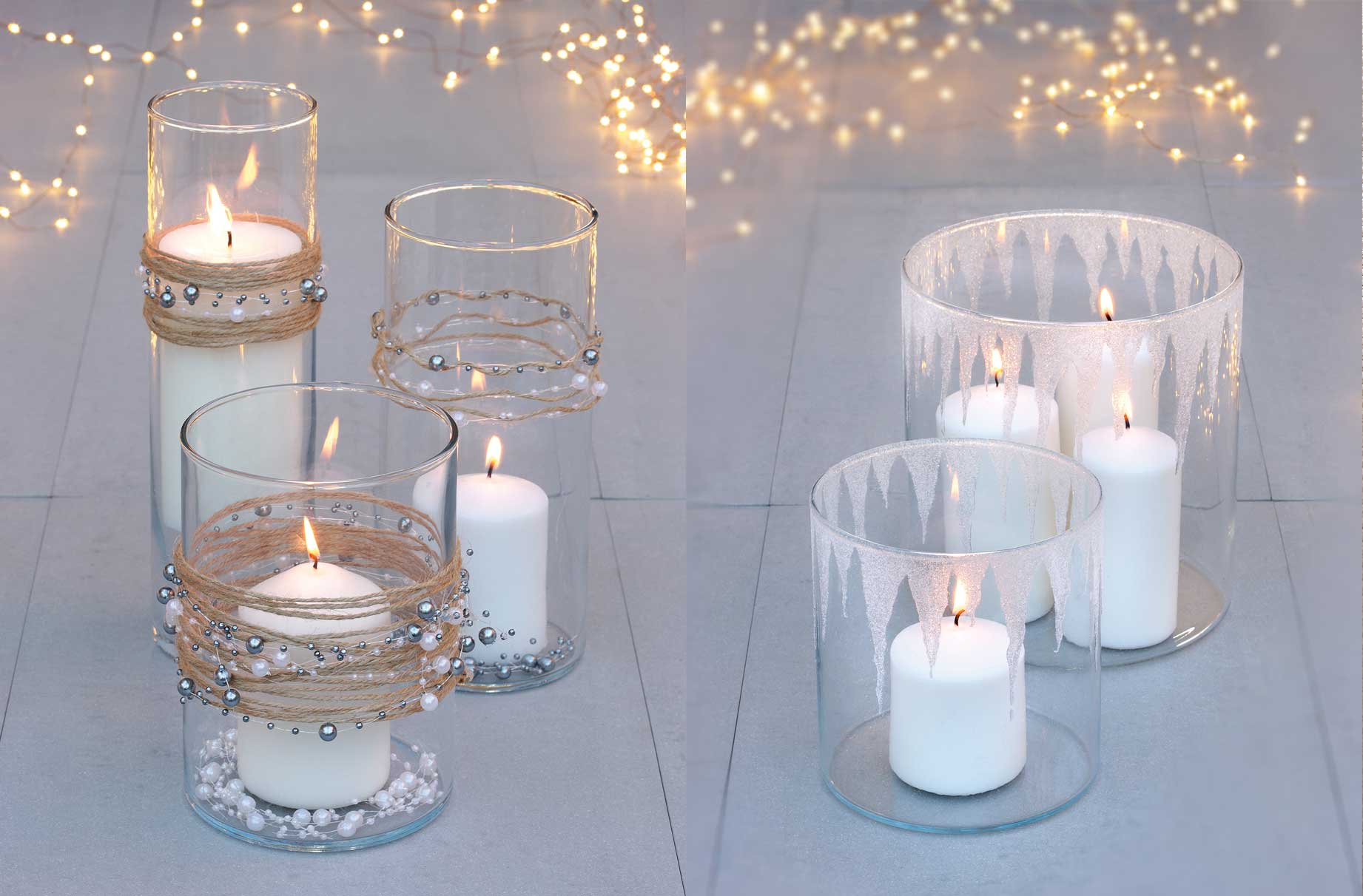 How to make Christmas candles