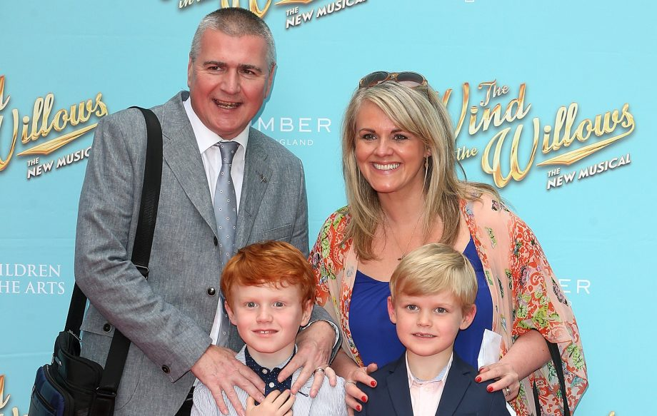 Sally Lindsay and family