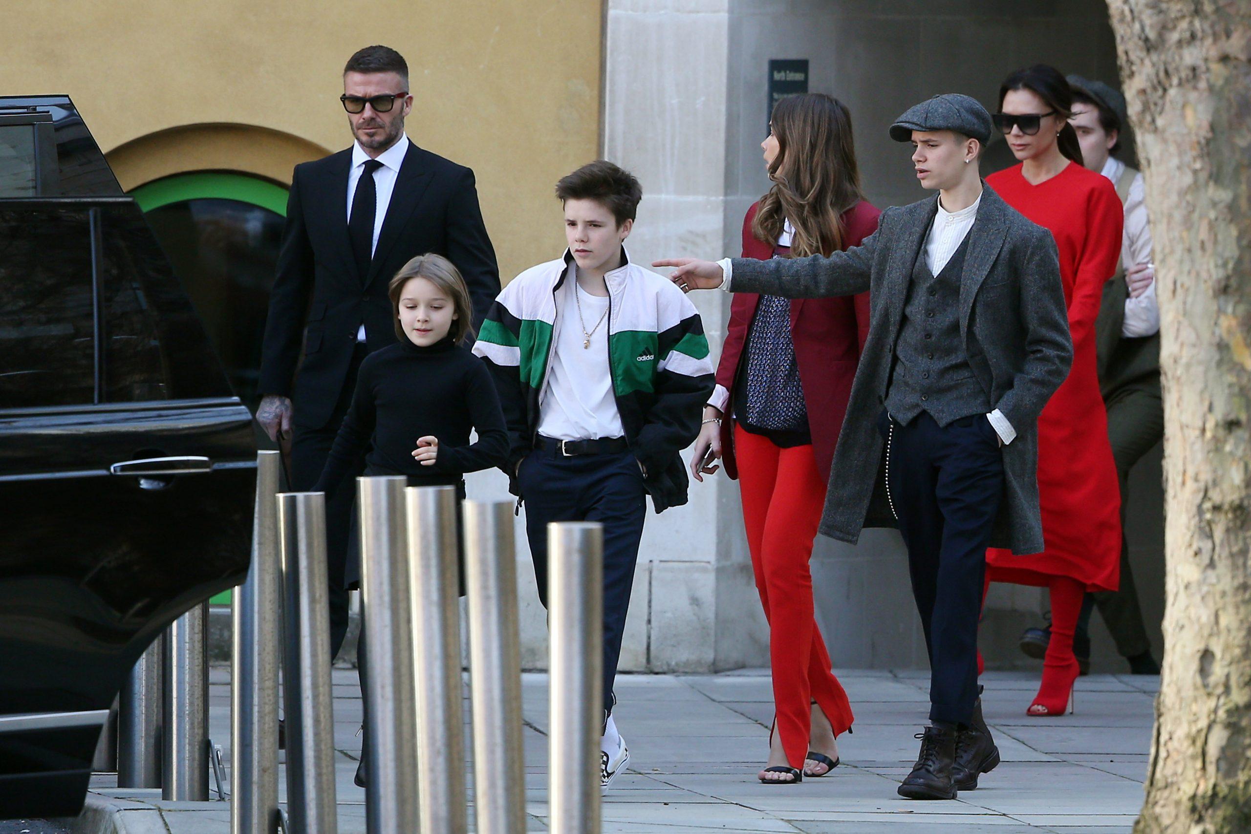 Victoria Beckham, David Beckham and family
