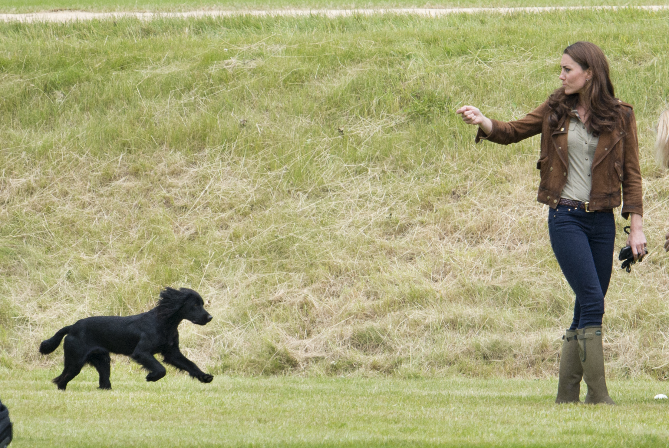 Kate Middleton spotted out for a walk with Prince Louis and dog Lupo